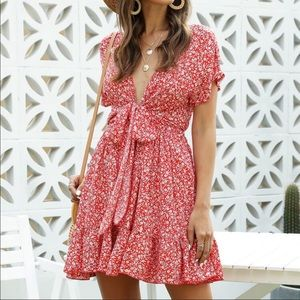NWT SHEIN knot front floral dress